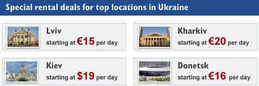 Special rental deals for top locations in Ukraine